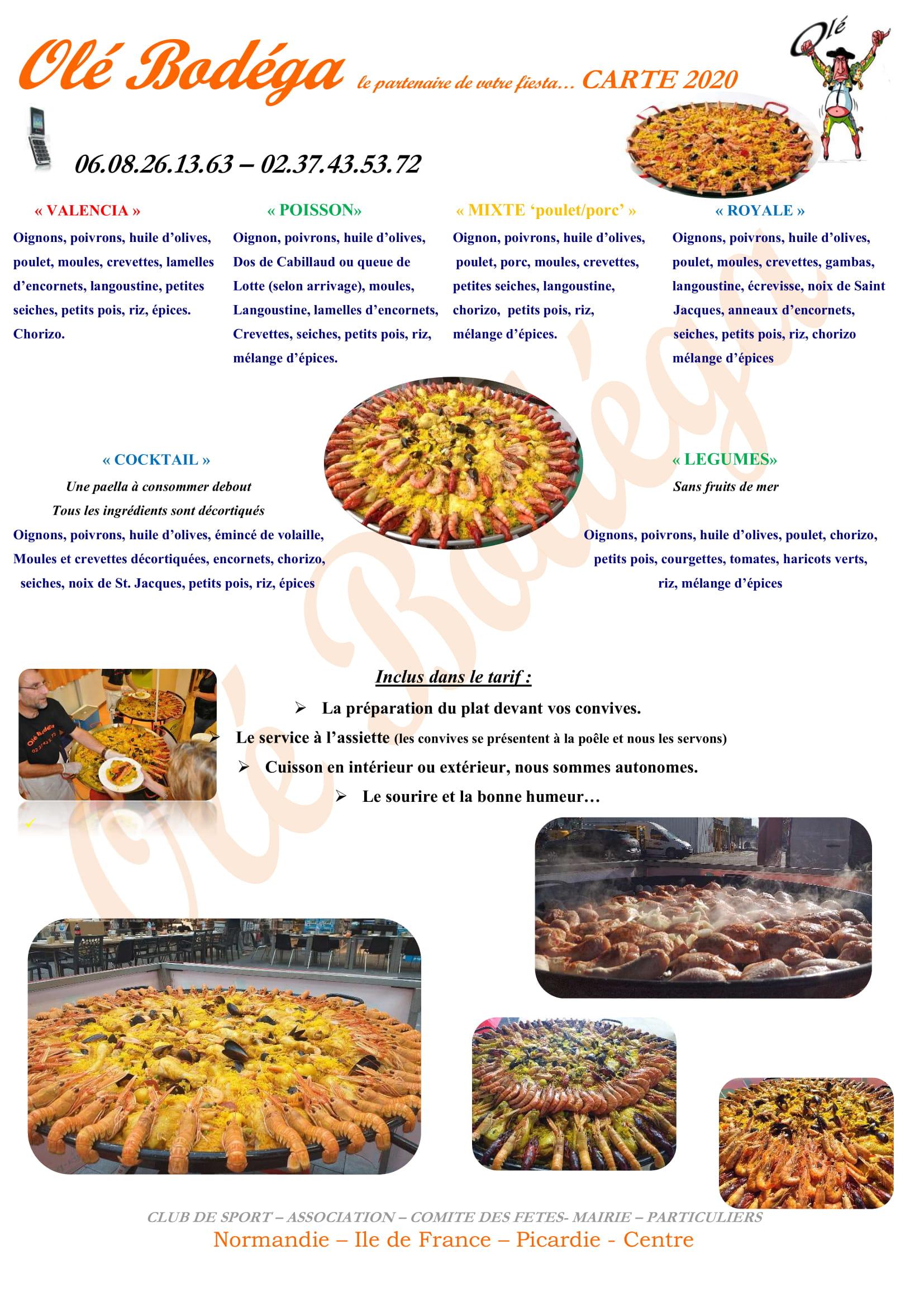 Depuis + de 15 ans nous préparons: paella, couscous, jambalaya, Colombo etc...pour vos manifestations sportives, professionnelles, personnelles